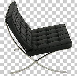 Barcelona Chair Aniline Leather Cushion PNG