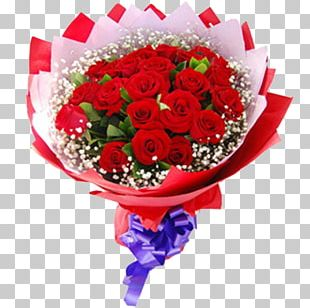 Valentines Day Flower Bouquet Rose Gift PNG