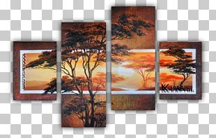 Oil Painting Canvas Abstract Art PNG
