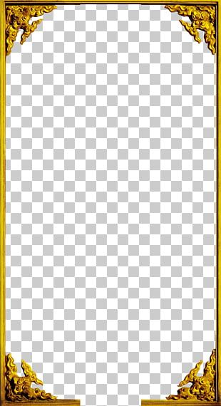 Window Frame Gold PNG
