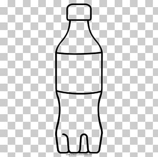 Water Bottles Line Art Coloring Book PNG