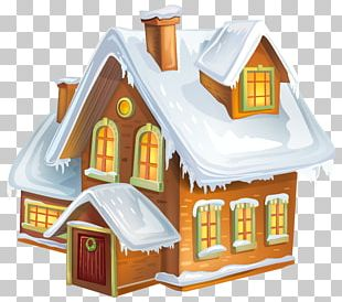 Winter Gingerbread House PNG