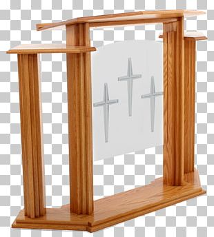 Communion Table Pulpit Lectern Podium PNG
