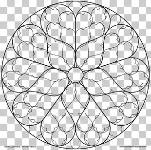 Rose Window Coloring Book Stained Glass PNG