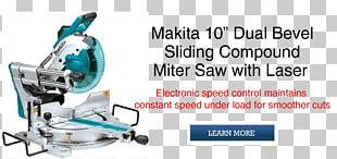 "Makita LS1013 Dual Slide Compound Miter Saw Ryobi 10"" Sliding Compound Miter Saw With Laser Tool PNG"