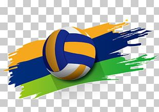 Beach Volleyball Sport Poster PNG