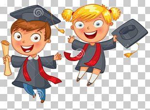 Graduation Ceremony School Cartoon PNG