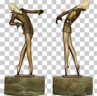 Bronze Sculpture Ballet Dancer Art Deco PNG