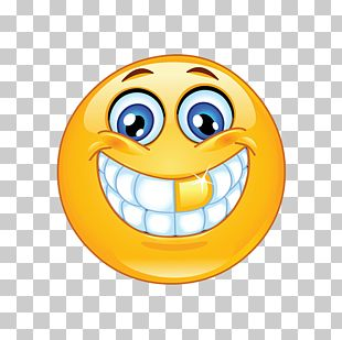 Emoji Smiley Emoticon Gold Teeth PNG
