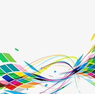 Color Dynamic Lines PNG