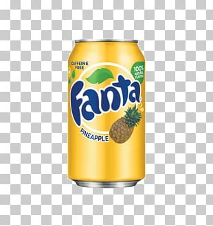 Fizzy Drinks Coca-Cola Fanta Cream Soda Pineapple PNG