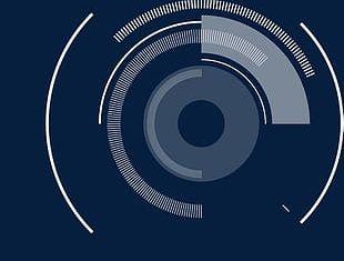 White Technology Circle PNG