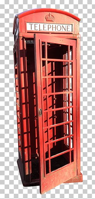 Red Telephone Booth In London PNG