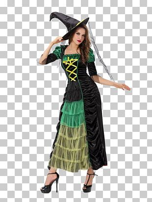 Halloween Costume Witch Clothing PNG