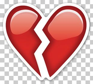 Emoji Broken Heart Emoticon Sticker PNG