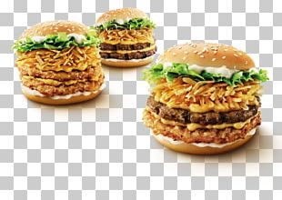 Slider Buffalo Burger Breakfast Sandwich Veggie Burger Hamburger PNG