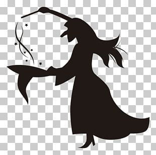 Halloween Silhouette Witch Drawing PNG