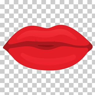 Cartoon Lips Red PNG