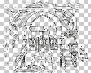 Jeruzalemkerk Architecture Drawing Sketch PNG