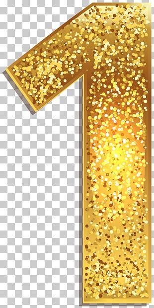 Number Gold PNG
