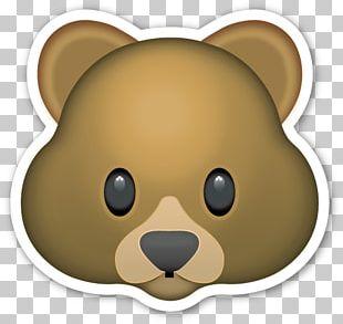 Bear T-shirt Emoji Sticker PNG