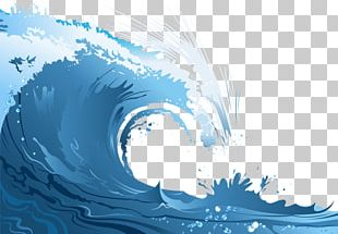 Poster Wind Wave Cartoon PNG
