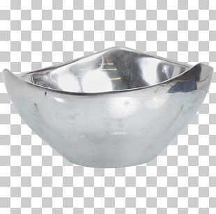 Bowl Table 1980s Design Silver PNG