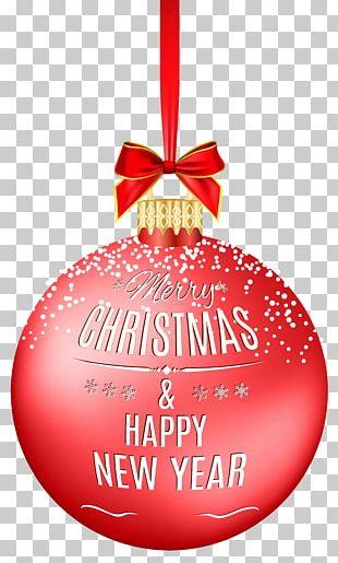 Merry Christmas Ball Christmas Red Ball Christmas Ornament PNG