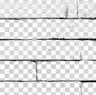Black And White Brick Wall Pattern PNG