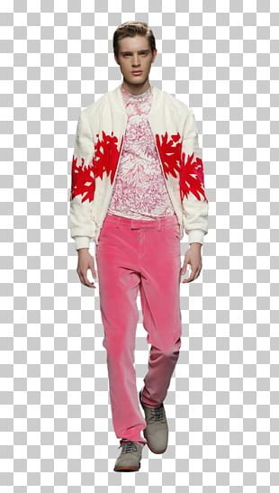 Fashion Show Jeans Fashion Model Pink M PNG