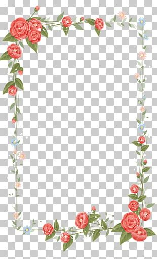Border Flowers Drawing PNG