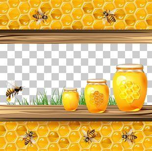 Bee Light Honeycomb Euclidean Illustration PNG