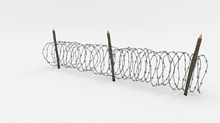 Barbed Wire Fence Wire Obstacle 3D Computer Graphics PNG