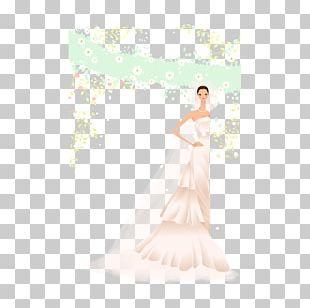 Wedding Dress Bride Petal Gown Shoulder PNG