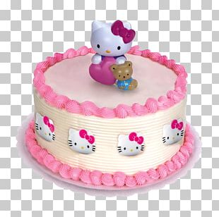 Hello Kitty Cupcake Frosting & Icing Birthday Cake PNG
