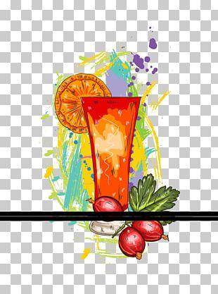 Orange Juice Tequila Sunrise Cocktail Sea Breeze PNG