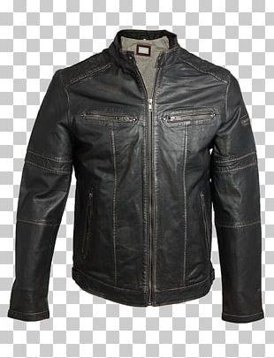 Leather Jacket Flight Jacket Harrington Jacket PNG