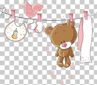 Baby Shower Child Infant Bear Diaper Cake PNG