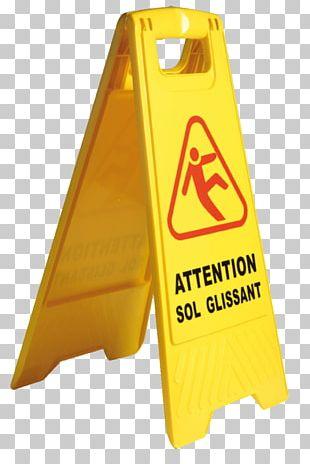 Danger Road Sign In France Panneau Sol Glissant Warning Sign Safety Hazard PNG
