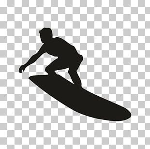 Surfing Silhouette Surfboard PNG