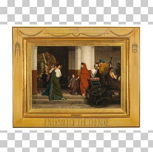 Fries Museum Entrance To A Roman Theatre Lawrence Alma-Tadema: At Home In Antiquity The Finding Of Moses Painting PNG
