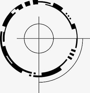 Ink Abstract Circle Classical Sense Of Technology PNG