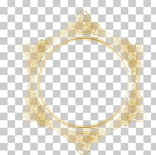 Border Rectangle Gold PNG