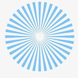 Blue Circle Geometric Lines PNG