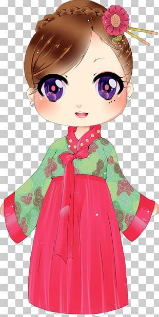 Art Hanbok Korea Drawing Chibi PNG