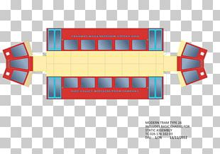 Trolley Paper Model Design Cutting PNG