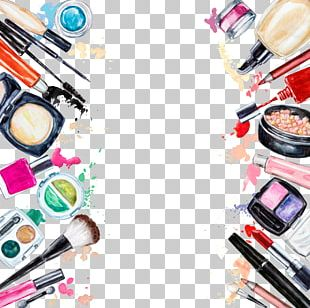 Cosmetics Beauty Eye Shadow Lipstick Frame PNG