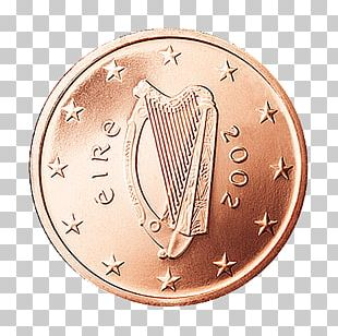 Ireland Euro Coins 1 Cent Euro Coin 5 Cent Euro Coin PNG