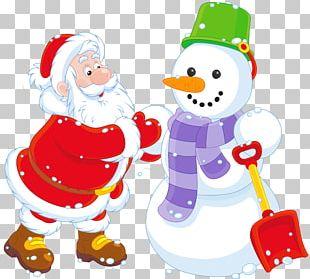 Santa Claus Rudolph Snowman Christmas PNG