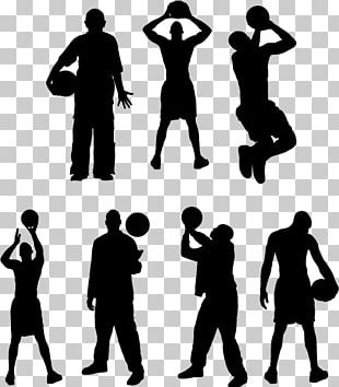 Basketball Player Sport Silhouette Athlete PNG